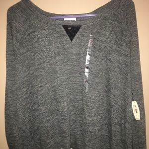 Victoria's Secret grey sweater with lace accents